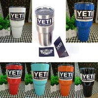 Wholesale 8ColorsYeti Stainless Steel oz Yeti Cups Cooler Yeti Rambler Tumbler Cup Beer Mug