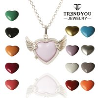 ball and chain heart necklace - TRENDYOU Heart Harmony Ball Pendant Necklace Angel Wings Lockets For Women And Baby Jewelry Summer Hot Accessories DTZ16614