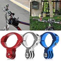 Wholesale Aluminum Bike Bicycle Handlebar Bar Clamp Mount Holder Adapter Standard mm For Gopro Hero Camera Silver Blue Red