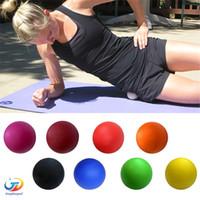 Wholesale Yoga Fitness Massage Balls Relax Relieve Fatigue Rehabilitation Gym Training Massage Lacrosse Ball Crossfit Body Massage Ball