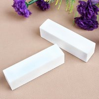 Wholesale 10pcs White Nail Art Buffer Buffers Buffing Sanding Files Block Nail Tools QJ