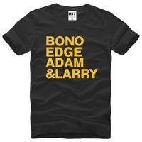 alternative band t shirts - New Designer Rock Band U2 T Shirt BONO EDGE ADAM LARRY T Shirt Men Short Sleeve O Neck Cotton New Alternative Rock T Shirt Tops Tee
