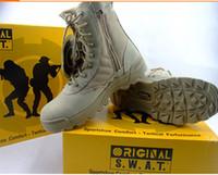 al por mayor bota militar-Botas Delta Tactical Desierto Militar SWAT Botas de Combate Americano Zapatos al aire libre Botas transpirables Wearable Senderismo EUR tamaño 39-45