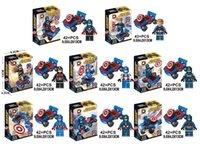 action motor - DLP9029 Building Blocks Toy Avenger Marvel Superheroes Captain America Motor Vehicle Minifigures Action Assemble Kids Bricks Mini Figures