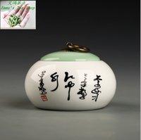 Wholesale Hot Sale Tea caddy ceramic pot Sealed small tank China Storage Bottles Jars tank ceramic Storage tanks Chinese style jar