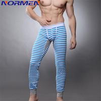 achat en gros de xuba sexy-Gros-Fashion Zebra Mens Underwear thermique Winter Tight Men Long Johns Cotton Stripes Long Johns Marque XUBA Sexy Long John Thermiques