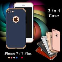 al por mayor el caso del diseño de lujo iphone-Lujo 3 en 1 diseño mate húmedo húmedo delgado de prueba de choque cubierta de plástico duro caso para el iPhone 7 6 6S más 4.7 5,5 pulgadas Samsung S7 S6 borde