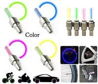 Wholesale ROSWHEEL Cycling LED Light Bike Bicycle Wheel Tire Valve Cap Spoke Neon LED Lights Safety Lamp
