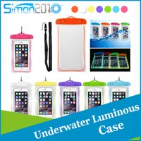 abs straps - Good quality PVC ABS material clear luminous water resistant super seal waterproof pouch for mobile with hanging strap