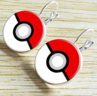 Wholesale Europe Retro Poke Pikachu Halder Earring Elf Ball Ear Buckle Vintage Women Ladies Girls Time Gemstone Earrings Jewelry Gifts