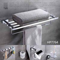 bathroom metal towel ring - Han Pai Brass Luxury Bathroom Accessories Wall Mounted Towel Rack Ring Holder Toilet Paper Holder Acessorios de banheiro Set HP7764