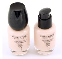 Wholesale Brand Miss Rose ml Liquid Foundation Repair Nourishment Nude Look Natural Moisturizing Protection Cosmetics Quality Assurance