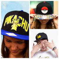 Wholesale Poke Go Caps Pikachu Poke ball Hat Caps Women Men Adult Hip Hop Snapbacks Basketball Sport Baseball Caps KKA758