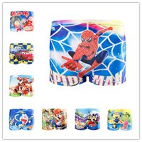 Cotton Mini Boxers Briefs - Boys Panties Kids Cartoon Boxers Children Briefs Cotton Underwear Lovely Swimming Pants Calzoncillos Spiderman Thomas Bragas