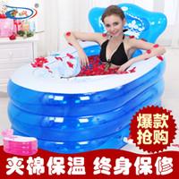 Wholesale Size cm With Pump Inflatable Bathtub Thickening Adult Tub Folding Bath Basin Bath Bucket