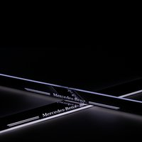 benz door - Stainless Steel Car LED moving Door Scuff Built in LED light guide welcome pedal door sill strip for Mercedes Benz C class W204