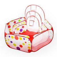Wholesale New Outdoor Baby Playpen Children Indoor Ball Pool Play Tent Kids Safe Polka Dot Hexagon Playpen Portable Foldable Playpens VE0067
