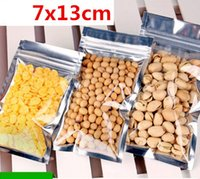 aluminum plate sizes - 7x13cm Small size bright color aluminum plating bag Aluminum plating yinyang zip lock food bag front clear zipper bags