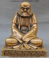 arhat buddhism - 9 quot Chinese Buddhism Temple Bronze Arhat Damo Bodhidharma Dharma Buddha Statue