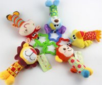 Wholesale Animal Rattle Baby Hand Rattles Toy Lathe Hanging Puzzle Bell