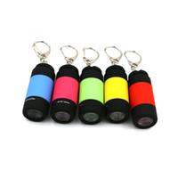 Wholesale 5 Color W Lm Portable Mini Keychain USB Rechargeable Pocket Torch Flashlight Light Lamp Multicolor Mini Torch