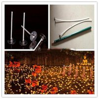 Wholesale New pack mm Candle Wicks Pre Waxed PreTabbed With Sustainers Cotton Coreless Candles Wick Home Decor House Tool Tools DIY Gift