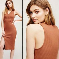 aa united states - AA Europe and the United States taking snapshots of sexy v neck chest buckle side split package more hip cultivate one s morality dress slee