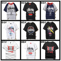 active tee - 2016 New Trendy Brand t Shirts For Men Cotton Loose Hip Hop Graffiti Mens t Shirts Plus Size Crew Neck Tee Shirt