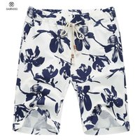 Wholesale Summer Mens Board Shorts Brand Surf Men Swimwear Shorts Linen Quick Dry Board Shorts Short Flower Print Bermuda Masculina