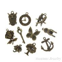 animal enclosures - Fashion Jewelry Pendants Mixed Bronze Tone Charms Pendants x17mm x9mm B13850 seasons pendant brooch pendant enclosure