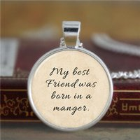 bible best - 10pcs Bible necklace my best friend was born in a manger NECKLACE Glass Photo Christian Necklace