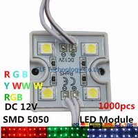 Wholesale 1000pcs LED Led C Backlight Led Lights Modules RGB Pixel Tetragonal Iron Led Modules For Channel Letter Advertisement Light
