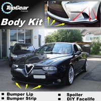 Wholesale Bumper Lip Lips For Alfa Romeo AR Skirt Deflector Spoiler For Car Tuning The Stig Recommend Body Kit Strip