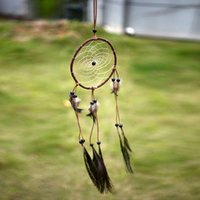 Wholesale Dream Catcher Net Peacock Feather Natural Hanging Decoration Decor Gift