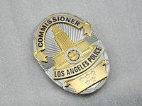 antique brass light - Losangeles Angeles LAPD COMMISSIONER Los metal badges