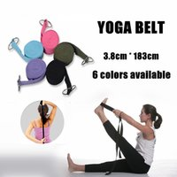 Wholesale 300pcs Yoga Belt D ring Yoga Slings Long Yoga Stretch Belt Fitness Training Strap Belt DHL