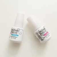 Wholesale 5ml Top quality Harmony gelish polish LED UV nail art gel TOP it off and Foundation bottles frence nails Top coat Base coat set