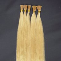 Wholesale 20Inch Pre bonded I tip Brazilizan Remy Human hair Extensions Straight Solide color Blonde High quality