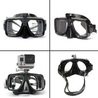 Wholesale NEW Gopro Diving Mask Glasses Soft Liquid Silicon Scuba Diving Mask with Clear Tempered Glass Top Snorkelling Snorkel Mask Color