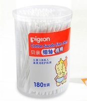 baby caddy - 180 Cartridges Baby cotton swab baby product Papery Thin shaft Swab Not to hurt the skin cotton swabs baby dedicated