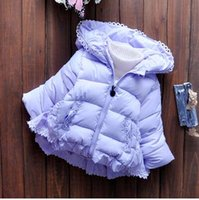 Wholesale Winter jacket girl baby girls down jacket parks with animals floral print fur hooded jackets kids outerwear coats girls Kids winter coat z08