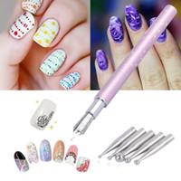 Wholesale 1x Nail Art Gel Polish Design Painting Brush Pen Set DIY Salon Manicure Beauty