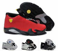 Wholesale Classical Top Quality Retro XIV Basketball Shoes For Men Fusion Purple Black Red Playoffs Sneakers Eur Size