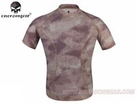 Wholesale EMERSON GEAR Skin Tight Base Layer Camo Running Shirts Perspiration Breathable Airsoft Short Sleeve T Shirts Wild Train EM8605