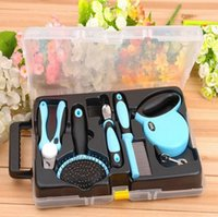 Wholesale Pet Grooming Tool Set With Retractable Leash Comb Brush Nail Clipper Your Best Choice