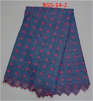 african fabric stores - Variety type high quality African guipure lace fabric for women garment different color in store BGS