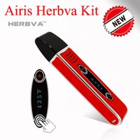 aura glass - Original Airis Herbva Dry Herb Vaporizers Kits mAh Smart Touch Screen VS Flowermate V5 Mini Pro Aura Firefly Herbal Vaporizer Kit