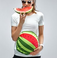 Wholesale My Watermelon Bump Maternity T Shirt Mamagama Pregnancy shirt Mamagama Maternity Wear Gift Funny Cute Summer Watermelon