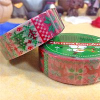 Wholesale christmas paper tape red snowflake view