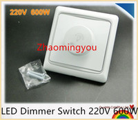 Wholesale LED Dimmer Switch V W Brightness Dimmers For adjustable LED lights Ceiling Downlight Spotlight PAR20 etc
